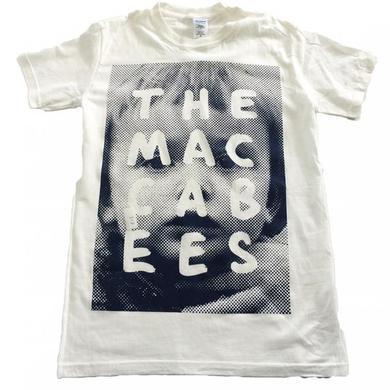 The Maccabees Women's White and Navy Sam T-shirt
