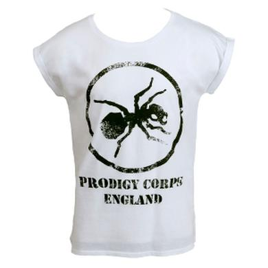 The Prodigy Corps on Rolled Sleeve Ladies White T-Shirt