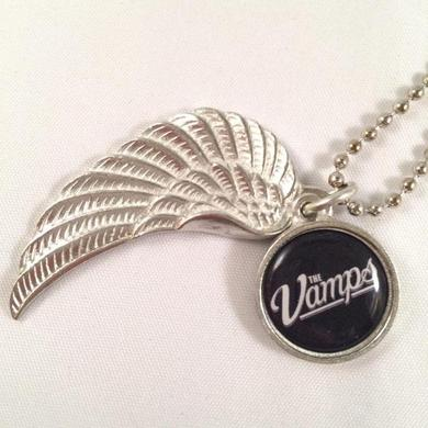 Team Vamps Pewter Wing Logo Necklace