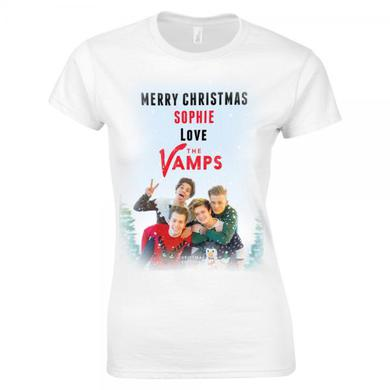 The Vamps Merry Christmas Personalised T-Shirt