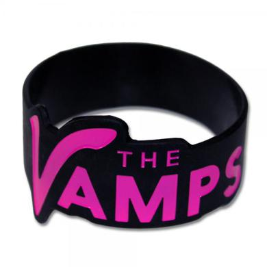 The Vamps Pink Logo Silicone Wristband