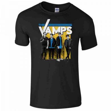The Vamps Guys Metal Wall Black T-Shirt