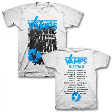 The Vamps Wake Up Tour Alley White T-Shirt