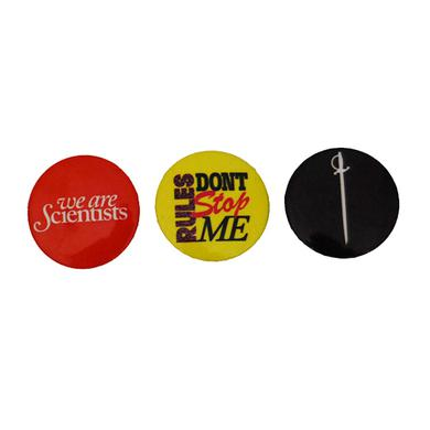We Are Scientists Rules Badge Pack (Set Of Three)