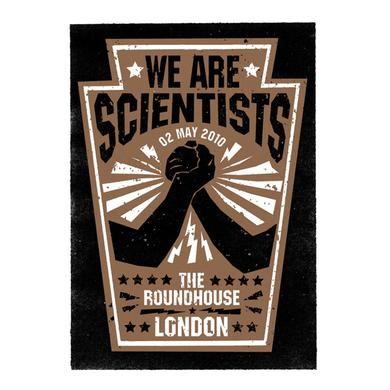 We Are Scientists Roundhouse Screen Print