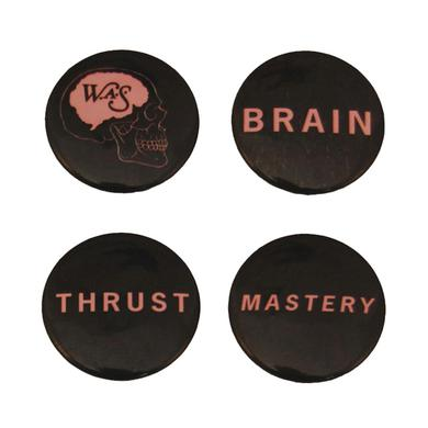 We Are Scientists Brain Thrust Badge Pack (Set Of Four)