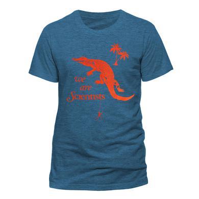 We Are Scientists Alligator & Spider Mens Blue T-Shirt