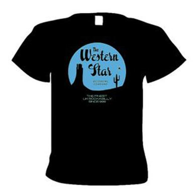 WESTERN STAR Classic Logo T-Shirt (Pale Blue On Black)