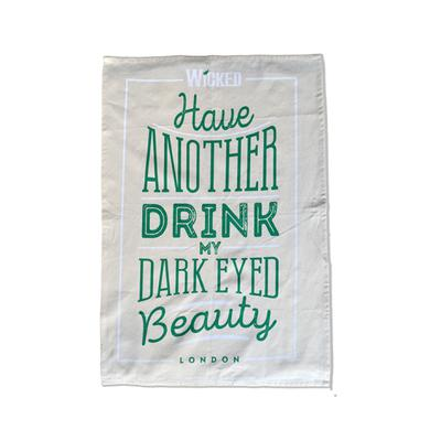 Wicked Have Another Drink Tea Towel
