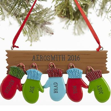 Aerosmith Holiday 2016 Mittens Ornament