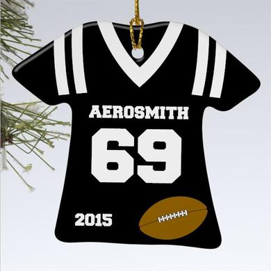 Aerosmith Football Jersey Ornament