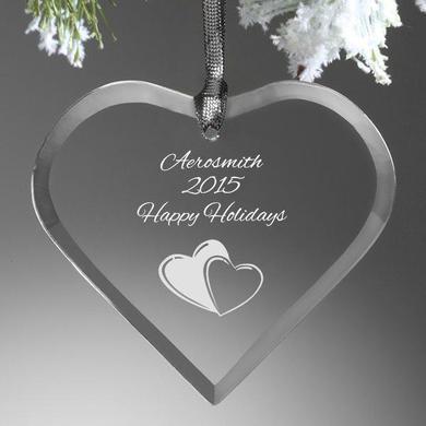 Aerosmith Happy Holidays Heart Ornament