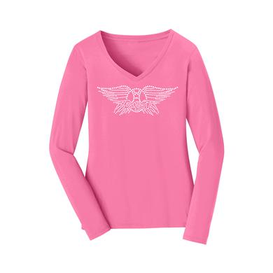 Aerosmith Bling Long Sleeve Fan Favorite V Neck