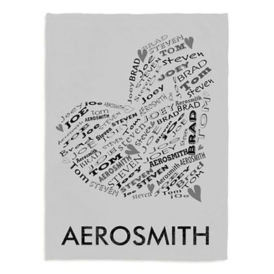 Aerosmith Valentine Fleece Blanket