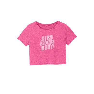 Aerosmith Aero Vederci Baby! Bling Crop Tee