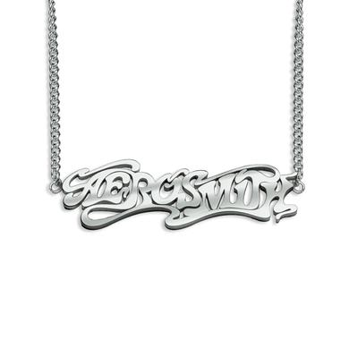 Aerosmith Silver Logo Necklace