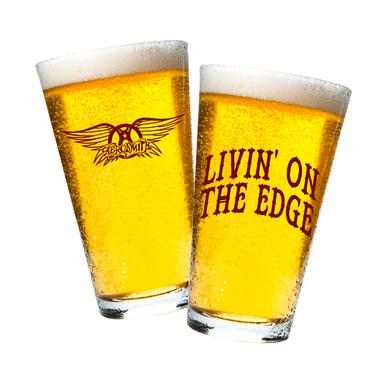 Aerosmith Livin' On The Edge Beer Pint Glass