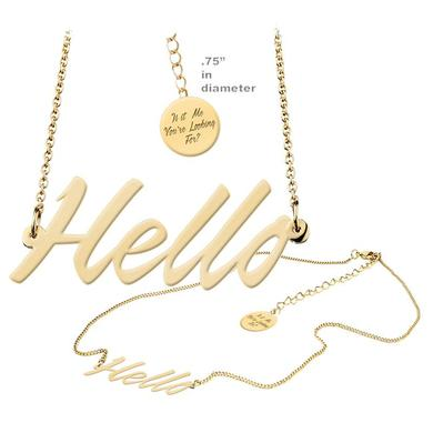 Lionel Richie Hello Necklace