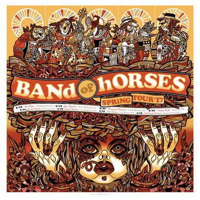 Band Of Horses Spring 2017 Tour Poster
