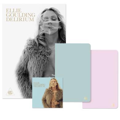 "Ellie Goulding DELIRIUM DELUXE ALBUM + 12"" X 18"" ART PRINT + ON MY MIND NOTEBOOKS"
