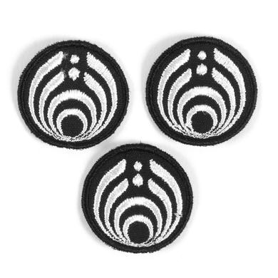 Bassnectar Black and White Emblem Patch Set