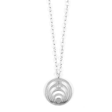 Bassnectar Silver Emblem Necklace