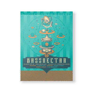 Bassnectar Atlantic City 2017 Poster