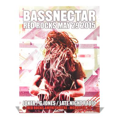 Bassnectar Red Rocks May 29, 2015 Poster