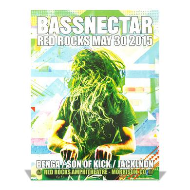 Bassnectar Red Rocks May 30, 2015 Poster