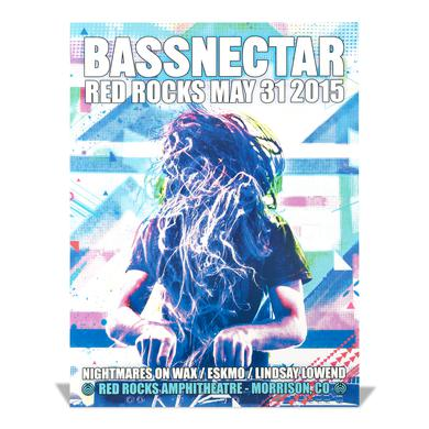 Bassnectar Red Rocks May 31, 2015 Poster