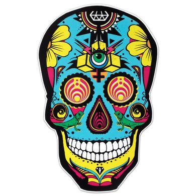 Bassnectar Black DOTD Skull Sticker