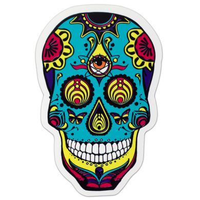 Bassnectar White DOTD Skull Sticker