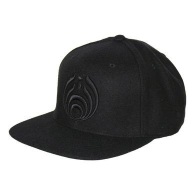 Bassnectar Black on Black Bassdrop Logo Snapback Hat