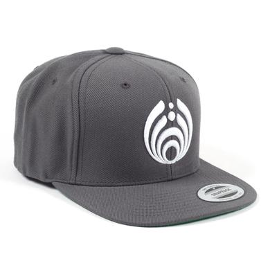 BASSNECTAR - Logo - White on Grey Snapback Hat