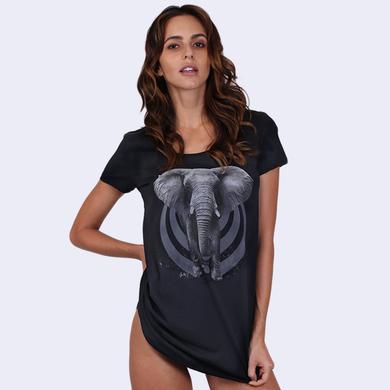 Bassnectar - Elephant Tunic - Ladies Black Tee