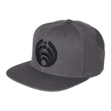 Bassnectar - Bassdrop Logo - Snapback Hat - Black on Gray