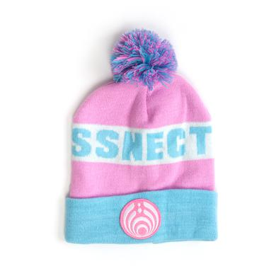 Bassnectar Pink Custom Patch Knit Beanie