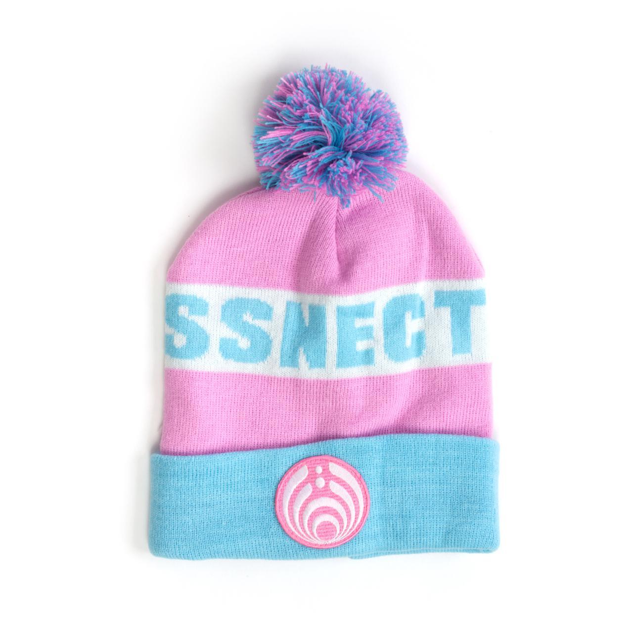Bassnectar Pink and Blue Custom Patch Knit Beanie 442a168e6a4