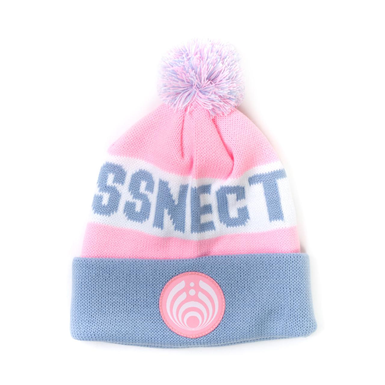 Bassnectar Pink and Gray Custom Patch Knit Beanie 5eac90d6a22