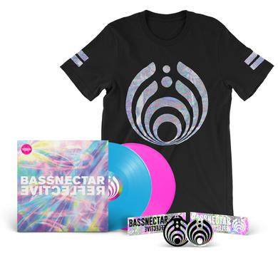 Bassnectar Reflective (Part 1 & 2) LP + Black T-Shirt Bundle