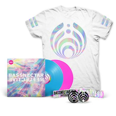 Bassnectar Reflective (Part 1 & 2) LP + White T-Shirt Bundle