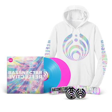 Bassnectar Reflective (Part 1 & 2) LP + White Hoodie Bundle