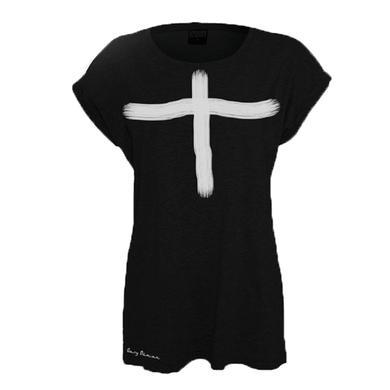 Gary Numan Ladies Fit White Cross T-Shirt