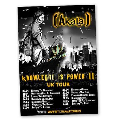 Akala Signed Tour Poster