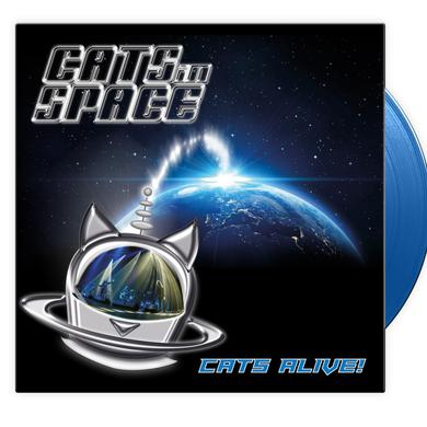 CATS IN SPACE Cats Alive! - Blue Vinyl Heavyweight LP