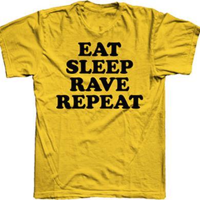 Fatboy Slim Eat, Sleep, Rave, Repeat Yellow T-Shirt