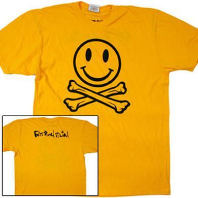 Fatboy Slim Smiley Cross Bones Yellow T-Shirt