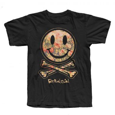 Fatboy Slim Black Smiley Flower T-Shirt
