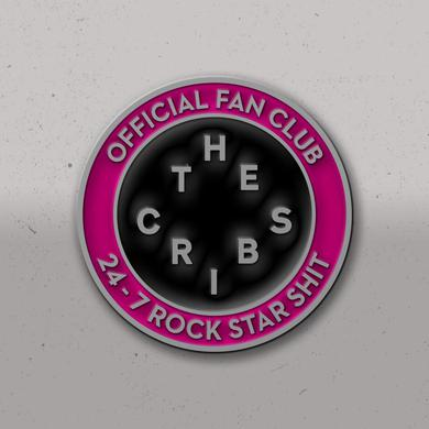 The Cribs 24-7 Rock Star Shit Enamel Badge
