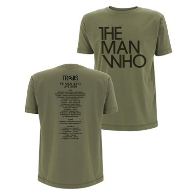 Travis The Man Who 2018 Tour T-Shirt (Khaki)